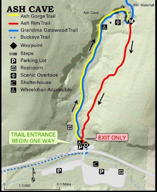 Ash Cave Trail Map